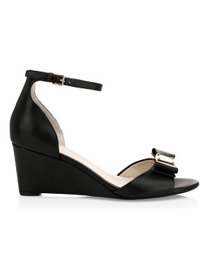 Cole Haan tali grand bow leather platform wedge sandals