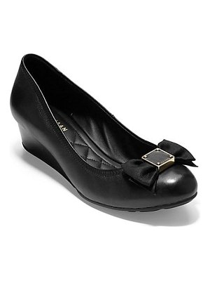 Cole Haan tali bow wedge pumps