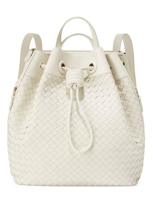 Cole Haan woven leather drawstring backpack