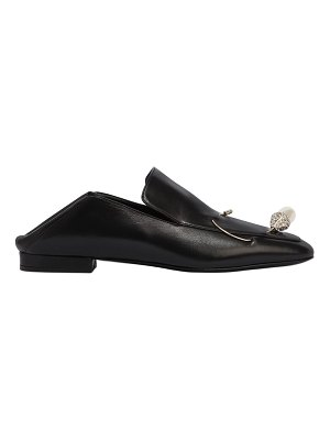 COLIAC 10mm davide jeweled pin leather loafers