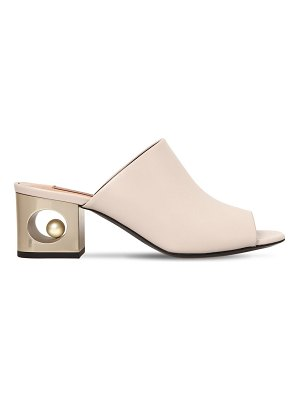 COLIAC 60mm stacy leather mules
