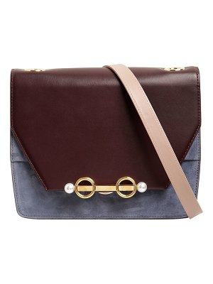 COLIAC Small adelaide two tone leather bag
