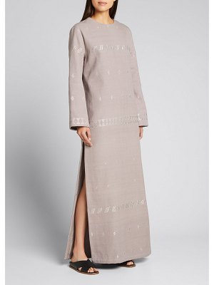 Collectiva Carla Embroidered Cotton-Blend Dress