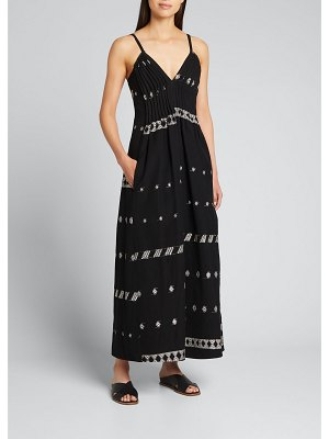 Collectiva Luciana Embroidered Maxi Dress
