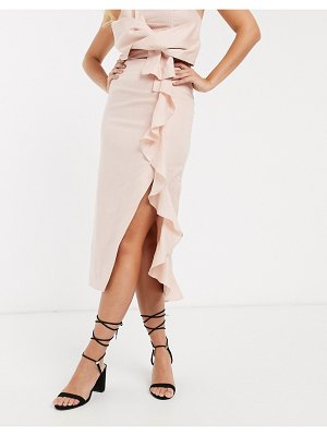 Collective The Label ruffle skirt two-piece in pink