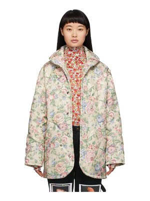 Collina Strada off-white floral handle with care puffer