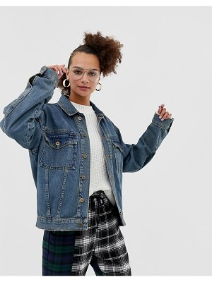 Collusion oversized denim jacket-blue