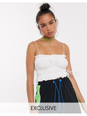 Collusion toggle side cami top in white