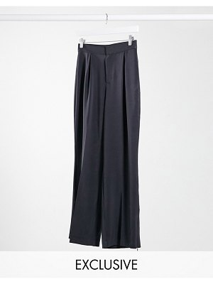 Collusion unisex balloon leg pants in charcoal-gray
