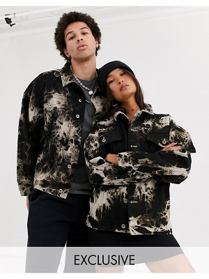 Collusion unisex oversized tie dye denim jacket-multi