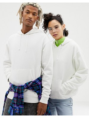 Collusion unisex hoodie in white