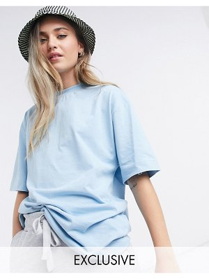 Collusion unisex t-shirt in light blue