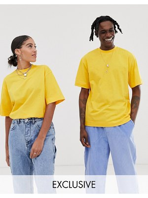 Collusion unisex t-shirt in yellow