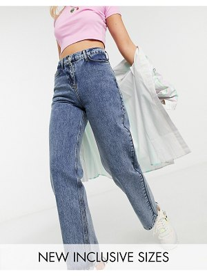 Collusion x014 dad jeans in washed blue