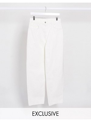 Collusion x014 dad jeans in white