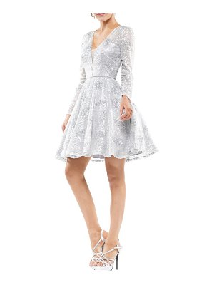Colors Dress sequin floral long sleeve party dress