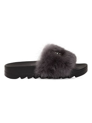 COLORS OF CALIFORNIA 20mm stars lapin fur slide sandals