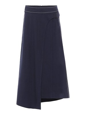 Colovos x woolmark wool-blend skirt