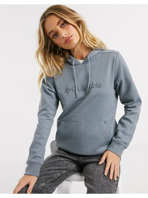 Columbia logo hoodie in gray-green