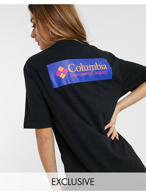 Columbia north cascades t-shirt in black with back logo exclusive at asos