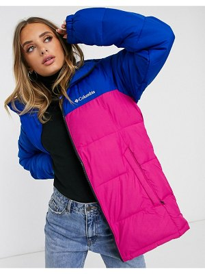 Columbia pike lake jacket in pink/blue exclusive at asos-purple