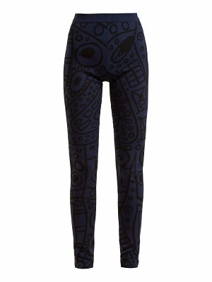 COLVILLE Abstract-jacquard high-rise leggings