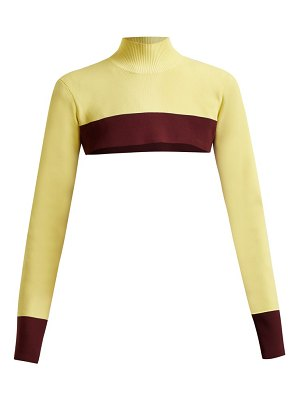 COLVILLE Cropped Colour Block Sweater