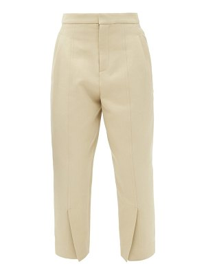 COLVILLE cropped slit-cuff cotton-blend trousers