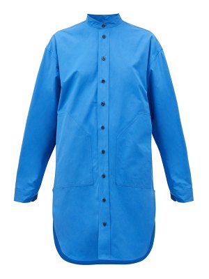 COLVILLE curved-hem cotton shirt