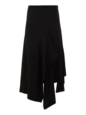 COLVILLE draped crepe skirt