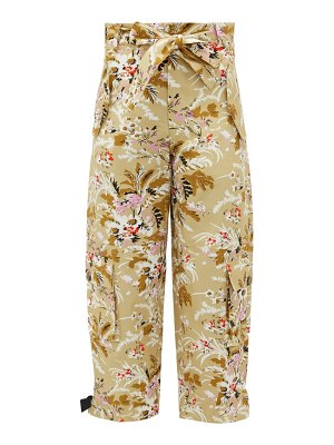 COLVILLE floral-print cotton-twill combat trousers