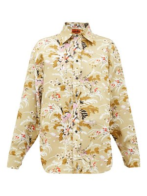 COLVILLE floral-print cotton-twill shirt