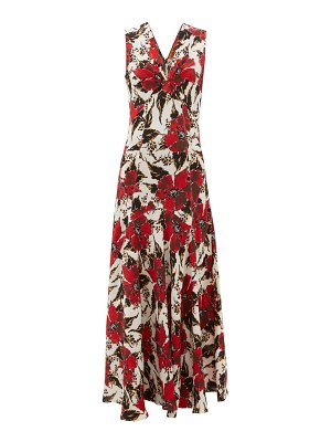 COLVILLE floral-print panelled crepe maxi dress