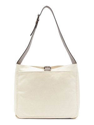 COLVILLE garden canvas and leather shoulder bag