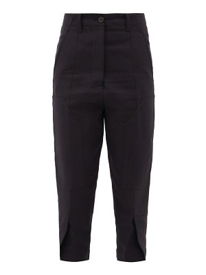 COLVILLE high-rise knee-patch cotton-blend trousers