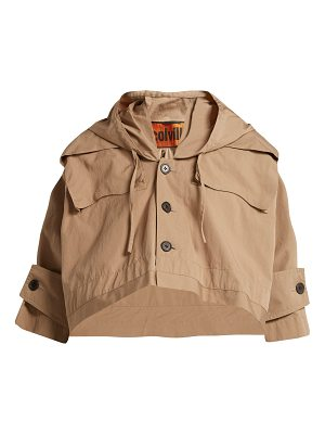 COLVILLE Hooded cotton cropped parka