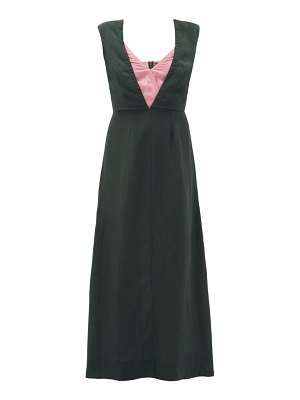 COLVILLE layered-bodice dress
