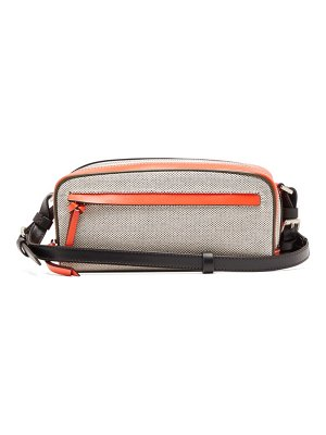 COLVILLE leather-panelled canvas cross-body bag