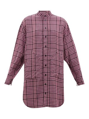 COLVILLE longline checked poplin shirt