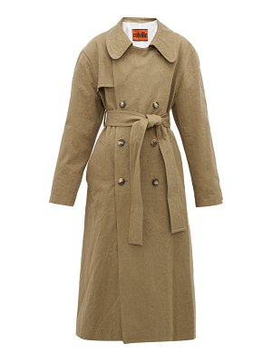 COLVILLE oversized crushed cotton-gabardine trench coat