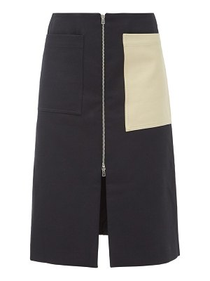 COLVILLE patch-pocket cotton-blend twill skirt