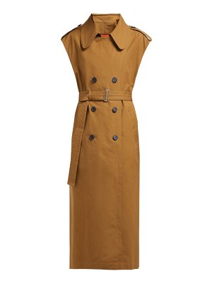 COLVILLE sleeveless cotton canvas trench coat