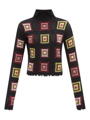 COLVILLE space age crocheted-square high-neck sweater
