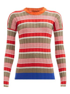 COLVILLE striped cotton-blend ribbed sweater