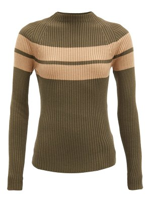 COLVILLE striped rib-knitted wool sweater