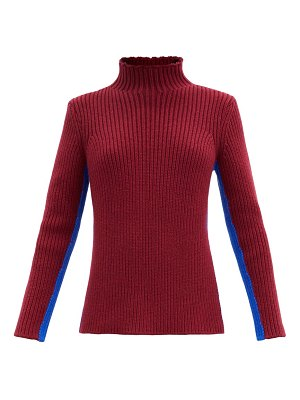 COLVILLE striped ribbed-knit sweater