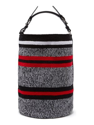 COLVILLE striped woven bucket bag