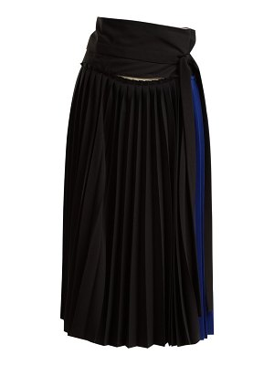 COLVILLE tie waist pleated wrap skirt