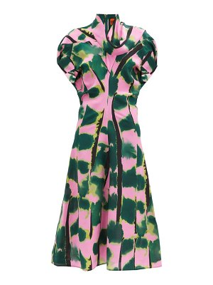 COLVILLE tiger tail print silk-crepe dress