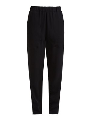 COLVILLE zip cuff crepe trousers